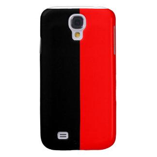 top black bottom red DIY custom background templat Galaxy S4 Case