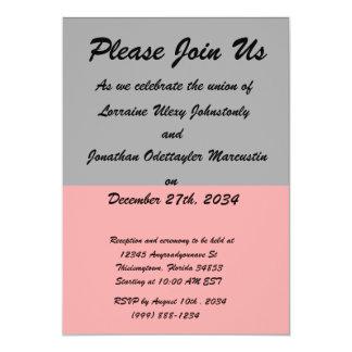 top black bottom red DIY custom background templat 5x7 Paper Invitation Card