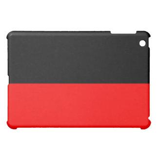 top black bottom red DIY custom background templat iPad Mini Cover