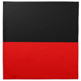 top black bottom red DIY custom background templat Napkin