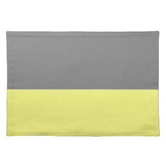 top black bottom yellow 50 lightness DIY custom Cloth Placemat