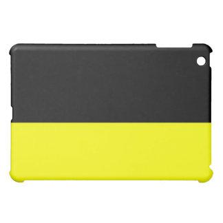 top black bottom yellow DIY custom background Cover For The iPad Mini
