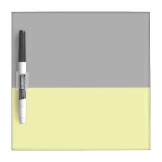 top black bottom yellow DIY custom background Dry-Erase Board