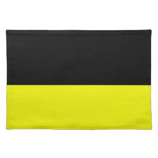 top black bottom yellow DIY custom background Placemat