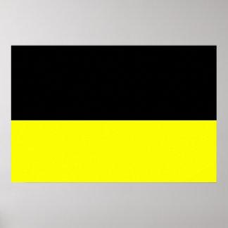 top black bottom yellow DIY custom background Poster