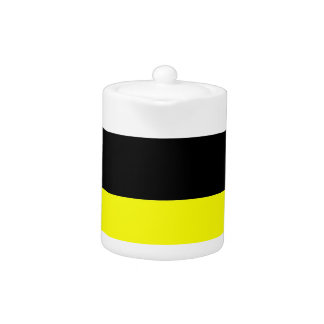 top black bottom yellow DIY custom background Teapot