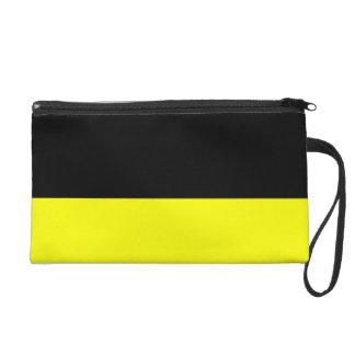 top black bottom yellow DIY custom background Wristlet Purse