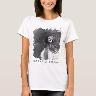 Top blanco y negro de la amapola de Islandia