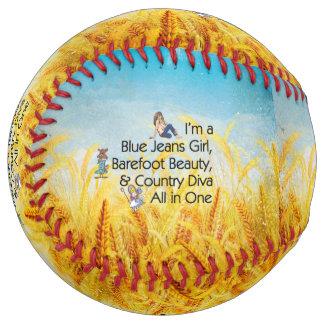 TOP Blue Jeans Girl Softball