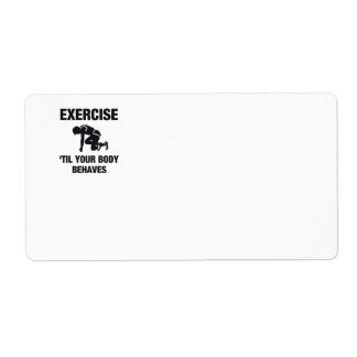 TOP Body Behaves Label