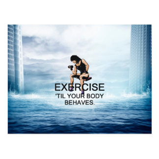 TOP Body Behaves Postcard
