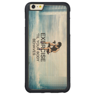 TOP Body Behaves Carved® Maple iPhone 6 Plus Bumper Case