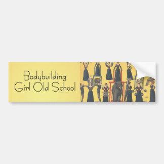 TOP Bodybuilding Girl Car Bumper Sticker