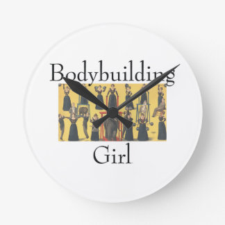 TOP Bodybuilding Girl Round Clock