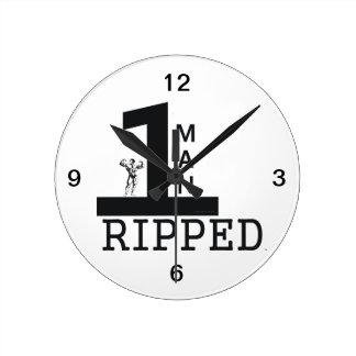 TOP Bodybuilding Man Round Clock
