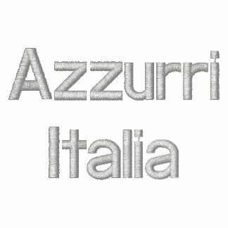 Top bordado Calcio del Grunge de Azzurri Italia Sudadera Bordada Con Capucha