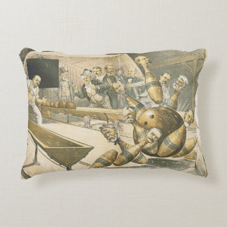 TOP Bowling Old School Accent Pillow