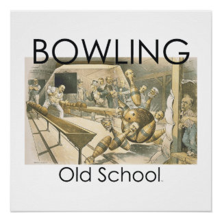 TOP Bowling Old School Poster