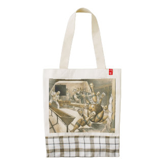 TOP Bowling Old School Zazzle HEART Tote Bag