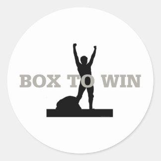 TOP Box to Win Classic Round Sticker