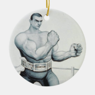 TOP Boxing Ceramic Ornament
