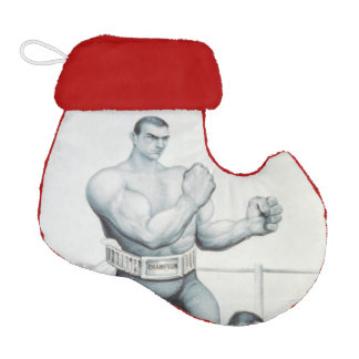 TOP Boxing Old School Elf Christmas Stocking