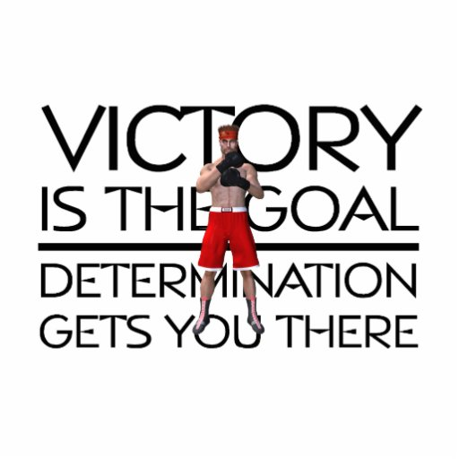 TOP Boxing Victory Slogan Photo Cut Out