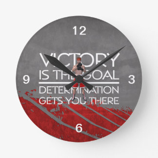 TOP Boxing Victory Slogan Round Clock