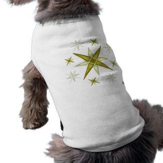Top brillante del perrito de las estrellas playera sin mangas para perro