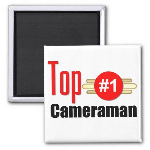 Top Cameraman 2 Inch Square Magnet