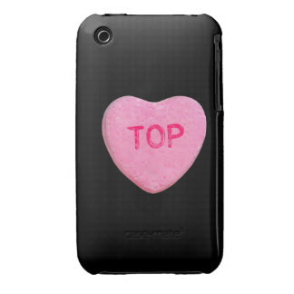 Top Candy Heart Case-Mate iPhone 3 Case
