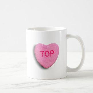 Top Candy Heart Classic White Coffee Mug