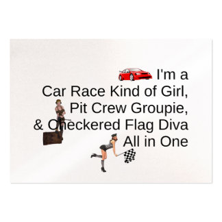 TOP Car Race Diva Large Business Cards (Pack Of 100)