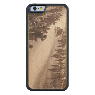 TOP Car Race Old School Carved® Maple iPhone 6 Bumper Case