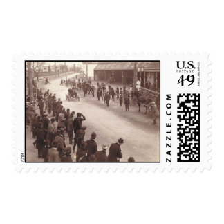 TOP Car Race Postage Stamp