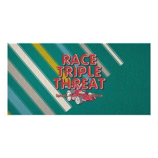 TOP Car Race Triple Threat Card