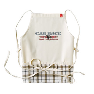 TOP Car Race Triple Zazzle HEART Apron