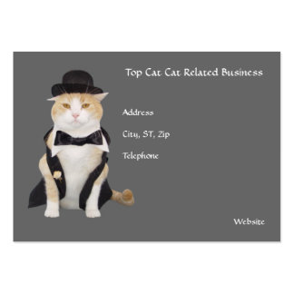 Top Cat, Cat Related Business Large Business Cards (Pack Of 100)