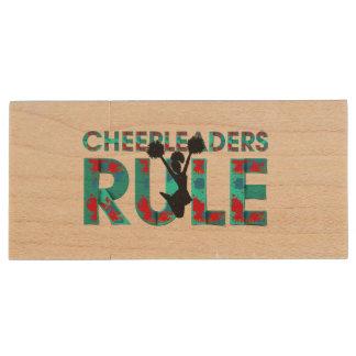 TOP Cheerleaders Rule Wood USB 2.0 Flash Drive