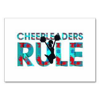 TOP Cheerleaders Rule Table Cards