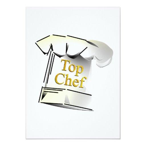 Top Chef 5x7 Paper Invitation Card