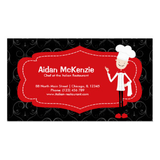 Top Chef Restaurant Double-Sided Standard Business Cards (Pack Of 100)