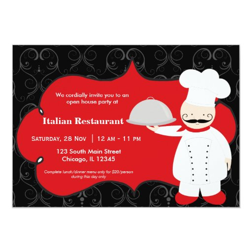 Top Chef Restaurant Card