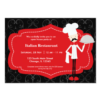 Top Chef Restaurant Custom Invitation