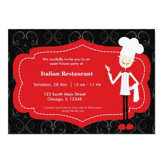 Top chef restaurant invitation zazzle top chef restaurant invitation stopboris Images