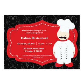 Top Chef Restaurant Custom Invites