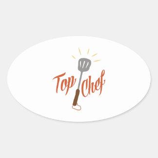 Top Chef Oval Sticker
