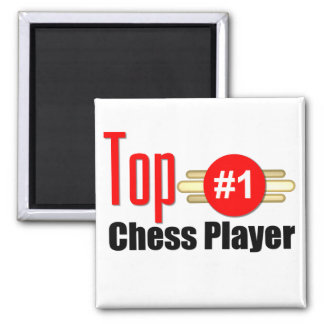 Top Chess Player 2 Inch Square Magnet