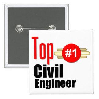 Top Civil Engineer Pinback Button