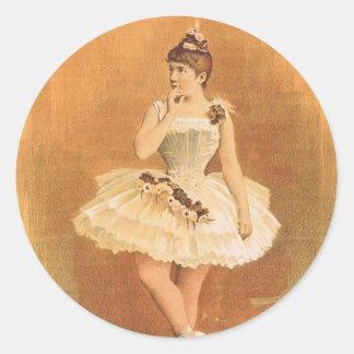 TOP Classic Ballerina Classic Round Sticker